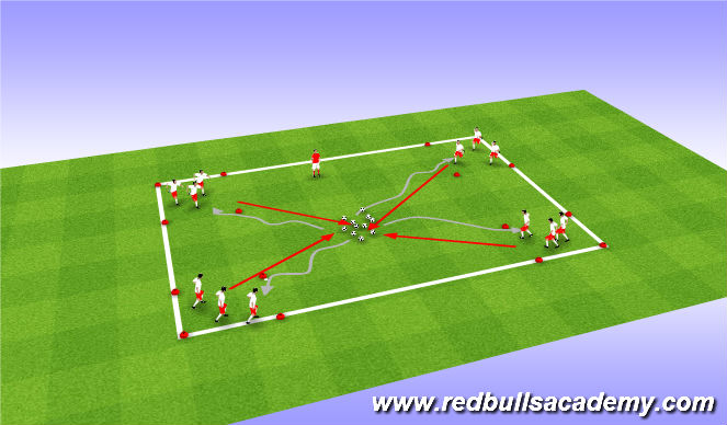 Football/Soccer Session Plan Drill (Colour): Despicable Me