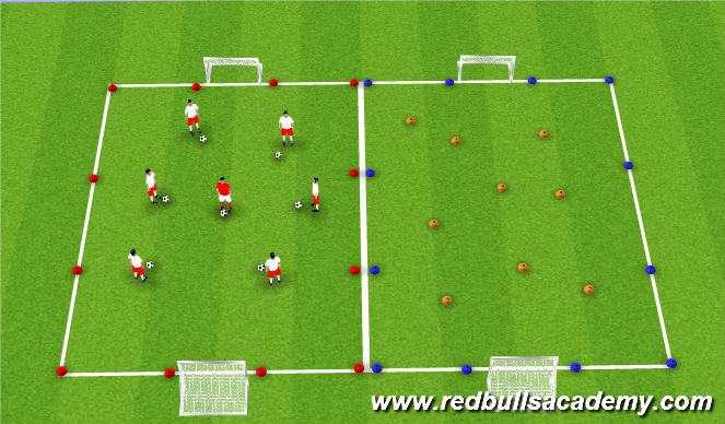 Football/Soccer Session Plan Drill (Colour): Sail Treasure Island