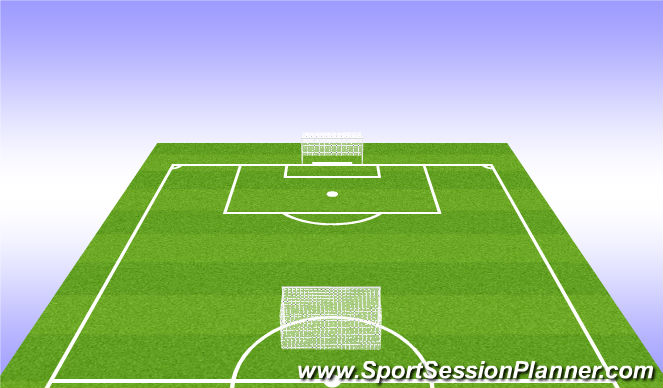 Football/Soccer Session Plan Drill (Colour): Spilað: