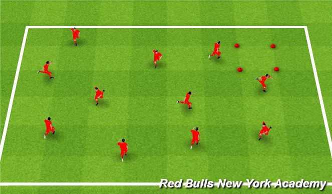 Football/Soccer Session Plan Drill (Colour): Pirate Tag