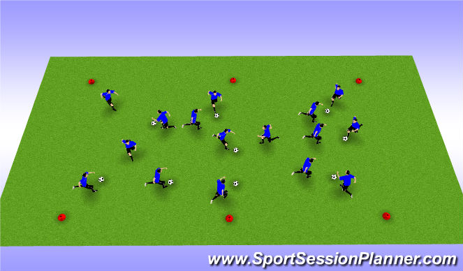 Football/Soccer Session Plan Drill (Colour): Dynamic P/R