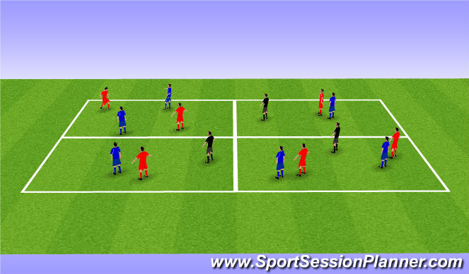 Football/Soccer Session Plan Drill (Colour): More players