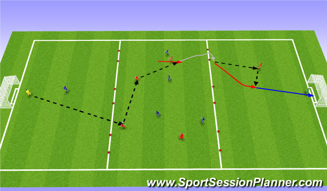 Football/Soccer Session Plan Drill (Colour): Silyrtur leikur: