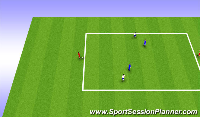 Football/Soccer Session Plan Drill (Colour): 2v2+2 Rondo