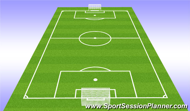 Football/Soccer Session Plan Drill (Colour): Play - 7v7