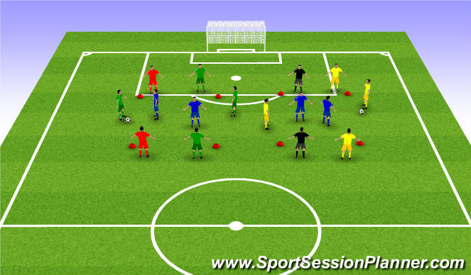 Football/Soccer Session Plan Drill (Colour): ΖΕΣΤΑΜΑ