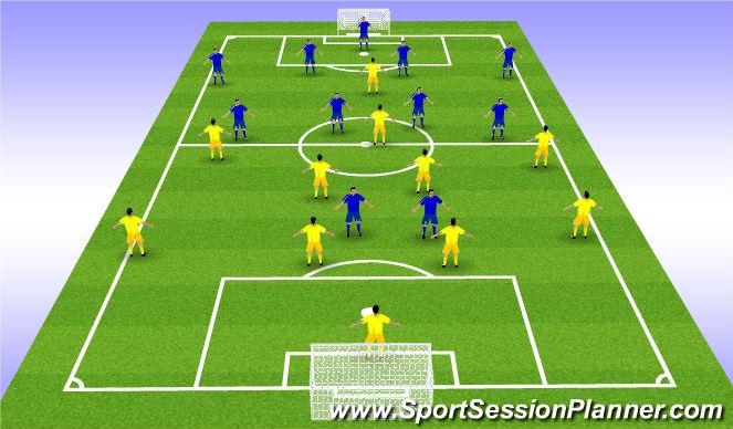 Football/Soccer Session Plan Drill (Colour): 11 ΕΝΑΝΤΙΟΝ 11