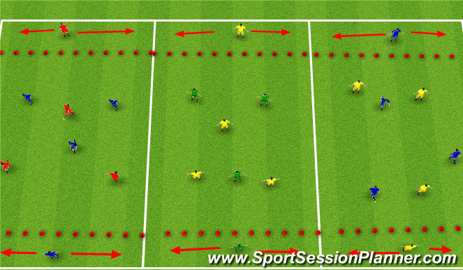 Football/Soccer Session Plan Drill (Colour): SSG warm up