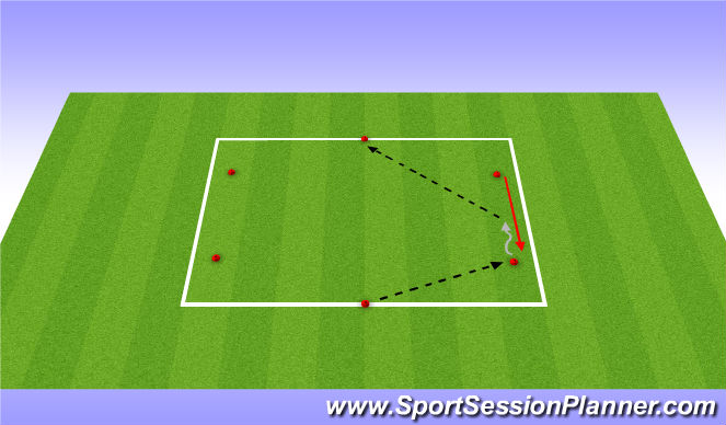 Football/Soccer Session Plan Drill (Colour): Technical App