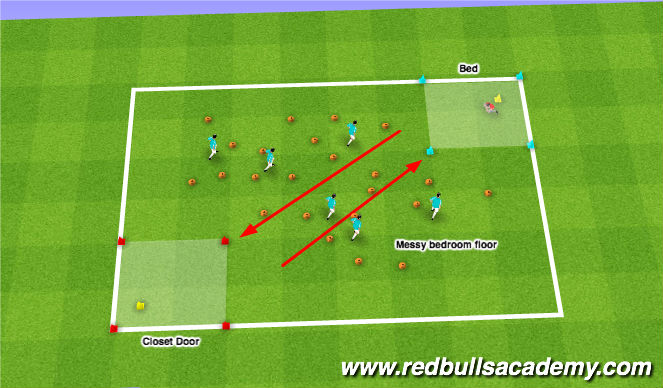 Football/Soccer Session Plan Drill (Colour): Monsters vs. Coach
