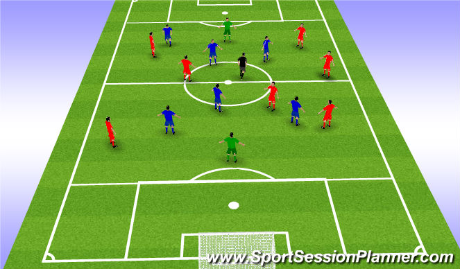 Football/Soccer Session Plan Drill (Colour): 10 passes game