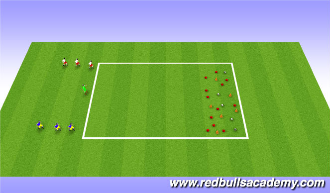 Football/Soccer Session Plan Drill (Colour): Treasure Chest