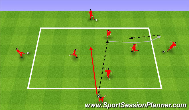 Football/Soccer Session Plan Drill (Colour): Rozgrzewka. Warm up.
