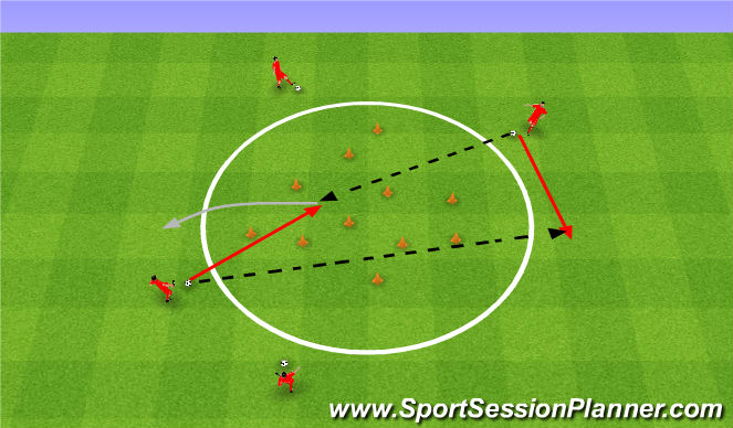 Football/Soccer Session Plan Drill (Colour): Circle game. Zbijak.