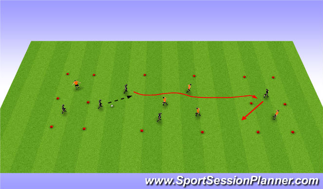 Football/Soccer Session Plan Drill (Colour): RWTB Part 1