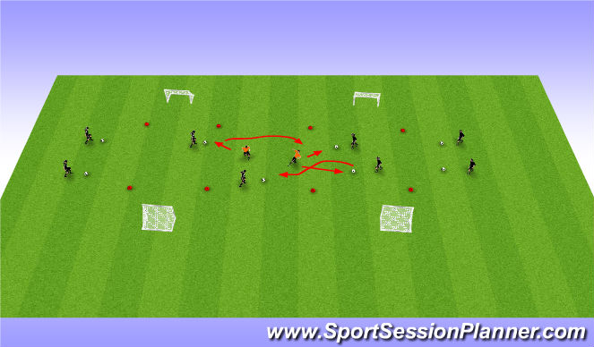 Football/Soccer Session Plan Drill (Colour): RWTB P2