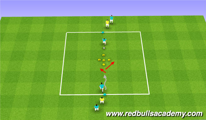 Football/Soccer Session Plan Drill (Colour): Unopposed - Moves