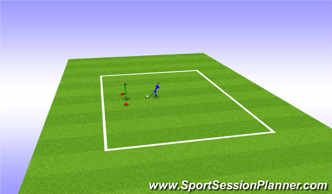 Football/Soccer Session Plan Drill (Colour): 1 v 1