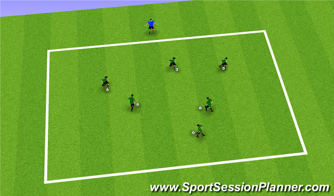 Football/Soccer Session Plan Drill (Colour): Activity 2 : Dont Crash