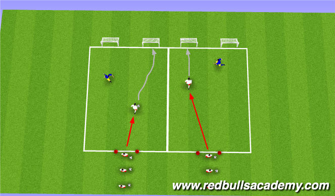 Football/Soccer Session Plan Drill (Colour): Main Theme (2)