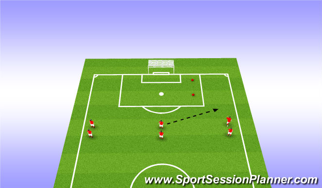 Football/Soccer Session Plan Drill (Colour): No defender