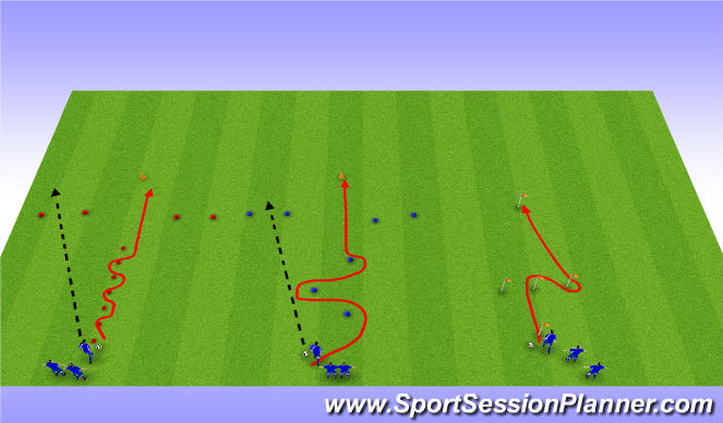 Football/Soccer Session Plan Drill (Colour): Aerobic Power