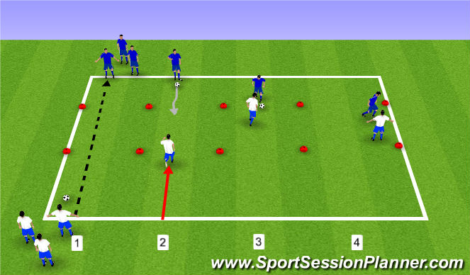Football/Soccer Session Plan Drill (Colour): Drill: 1 v 1
