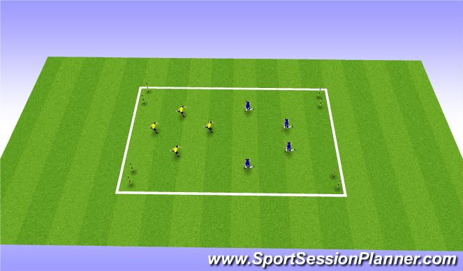 Football/Soccer Session Plan Drill (Colour): Clearance variation