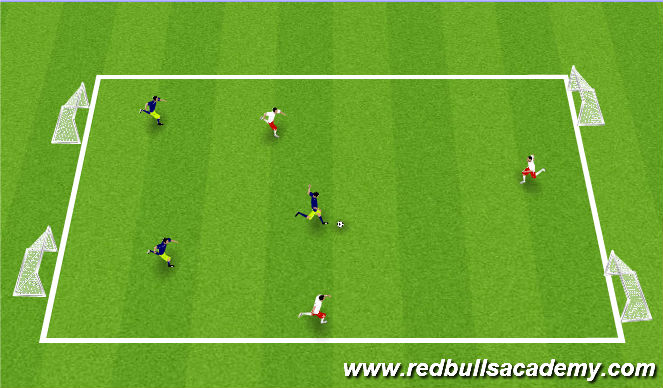Football/Soccer Session Plan Drill (Colour): Conditioned game/free play.