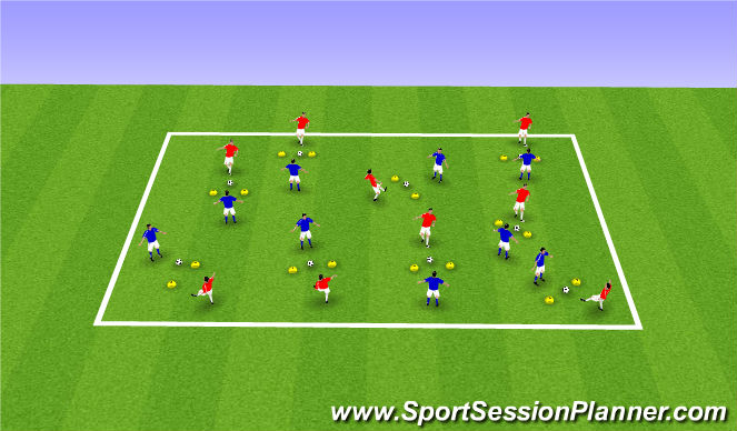Football/Soccer Session Plan Drill (Colour): Through the Gate