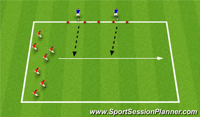 Football/Soccer Session Plan Drill (Colour): Pass and Run