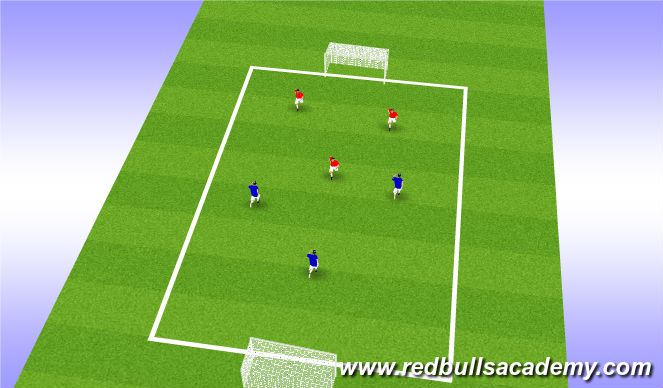 Football/Soccer Session Plan Drill (Colour): Team scrimmage