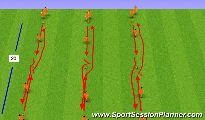 Football/Soccer Session Plan Drill (Colour): 1 v 1 Activity