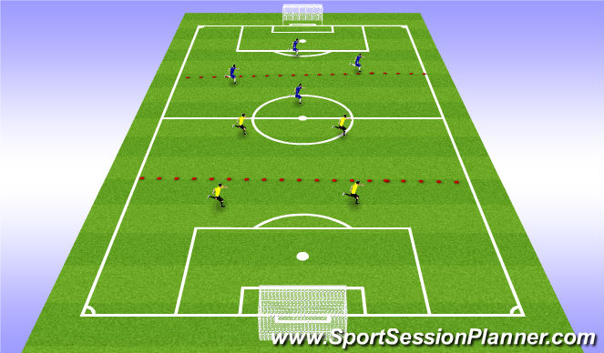 Football/Soccer Session Plan Drill (Colour): conditioned game H&L pressure