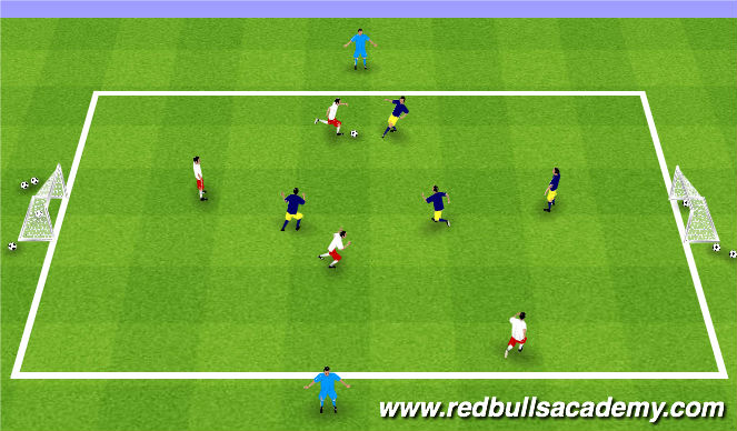 Football/Soccer Session Plan Drill (Colour): Tournament 4v4 +2(Extra)