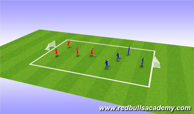 Football/Soccer Session Plan Drill (Colour): SSG 2