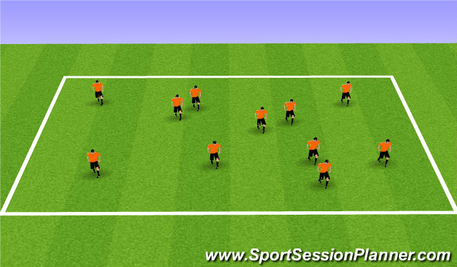 Football/Soccer Session Plan Drill (Colour): Cuts Turns