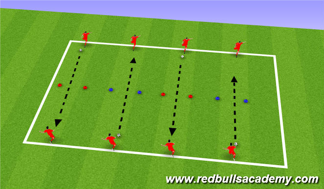 Football/Soccer Session Plan Drill (Colour): Shooting Partners