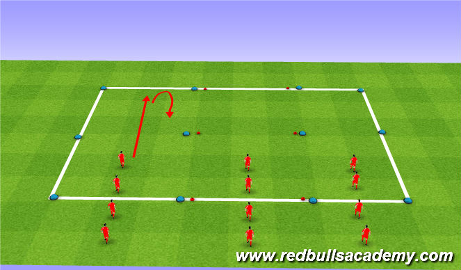 Football/Soccer Session Plan Drill (Colour): SAQ/ Technical preparation