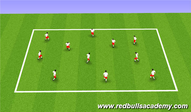 Football/Soccer Session Plan Drill (Colour): Flag Tag