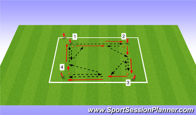 Football/Soccer Session Plan Drill (Colour): Passing - Short