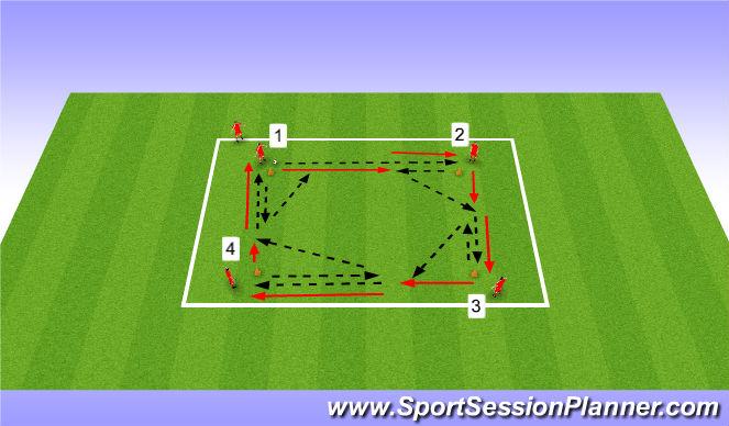 Football/Soccer Session Plan Drill (Colour): Passing - Short