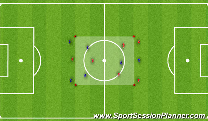 Football/Soccer Session Plan Drill (Colour): Multi-Directional Game