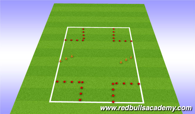 Football/Soccer Session Plan Drill (Colour): parking garage