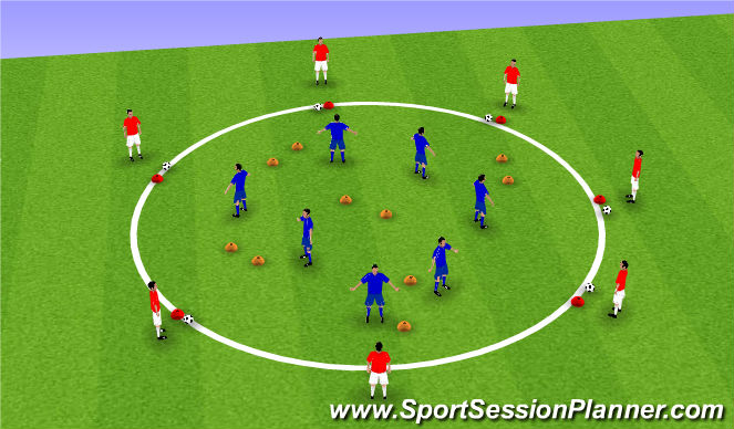 Football/Soccer Session Plan Drill (Colour): Space recognition
