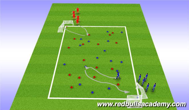 Football/Soccer Session Plan Drill (Colour): Pirates Treasure