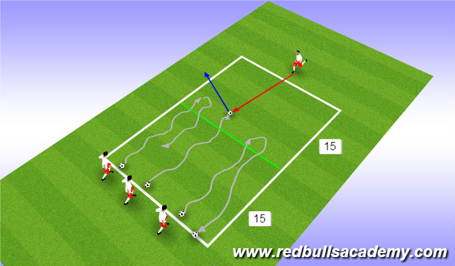 Football/Soccer Session Plan Drill (Colour): Halfline Turn