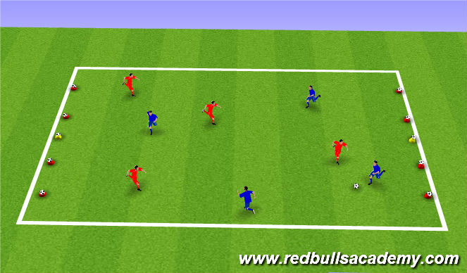 Football/Soccer Session Plan Drill (Colour): Battleship