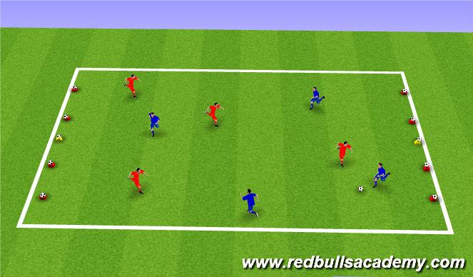 Football/Soccer Session Plan Drill (Colour): Battleship
