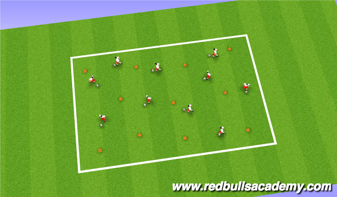 Football/Soccer Session Plan Drill (Colour): Turning Unopposed AJ